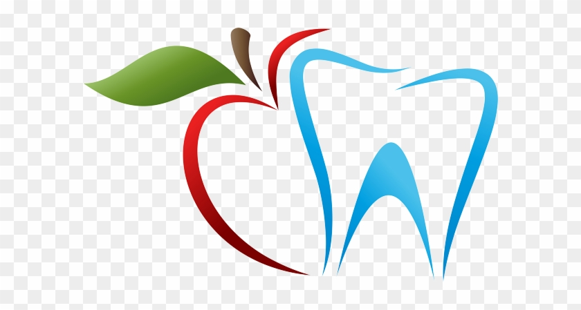 Bright Blue Dental Practice Dental Logo With Apple Free Transparent Png Clipart Images Download