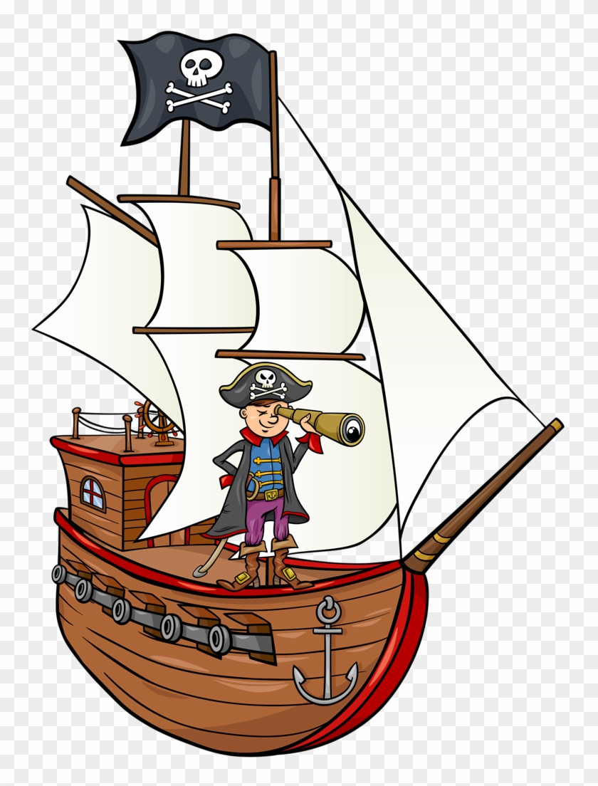 Bateau Page Pirate Ship Cartoon Free Transparent Png Clipart Images Download