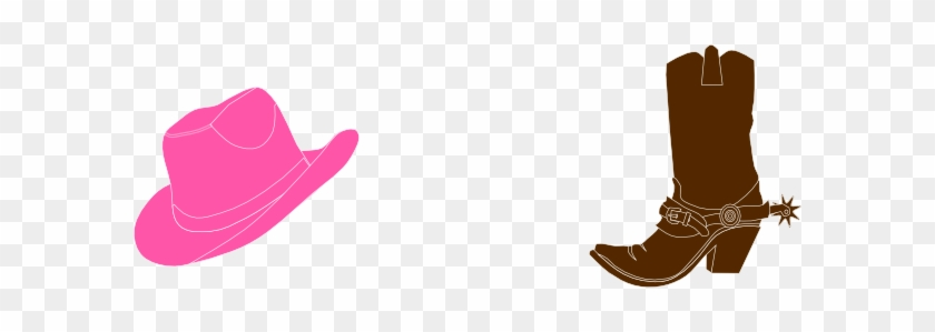Cowgirl Hat And Boot Hi Clipart - Pink Cowboy Boots Clipart #561136