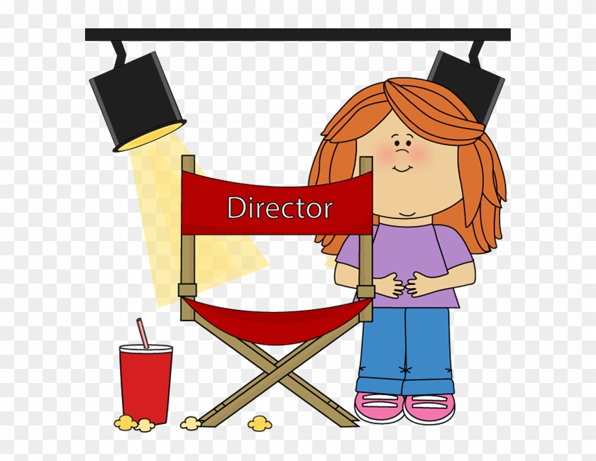 Movie Clip Art - Girl Movie Director Cartoon #561927