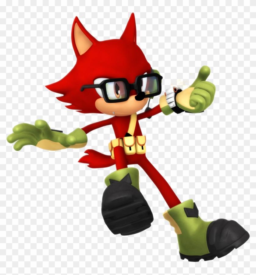Custom Hero Render 2 Grappling Hook Pose By Nibroc-rock - Sonic Forces Custom Hero Png #561971