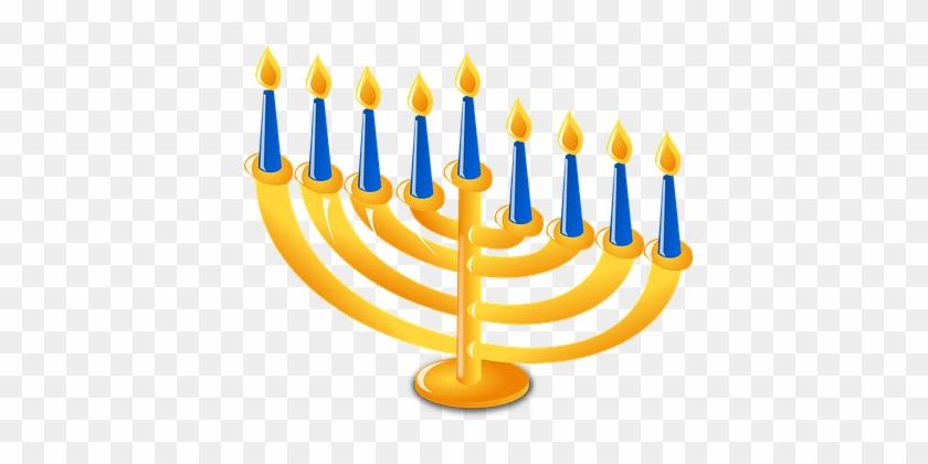 Candlestick Holder Candles Candleholder Ca - Menorah Clip Art #562317