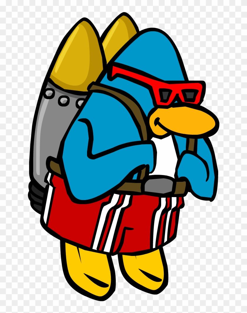 Jet Pack Surfer - Club Penguin With Jetpack #562652