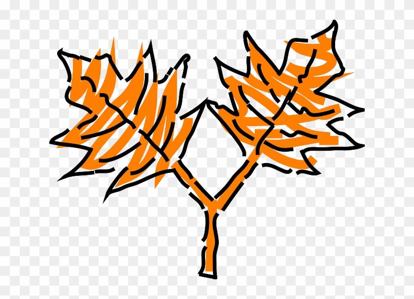 Leaf, Tree, Orange, Plant, Leaves, Oak, Stem - Leaf #563101
