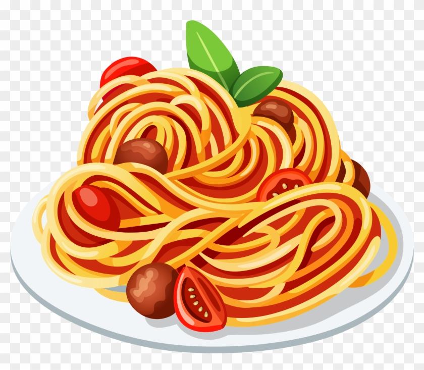 Dinner Plate Clipart - Clip Art Spaghetti #563456