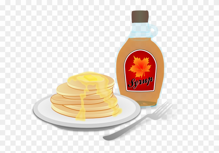 Breakfast Plate Clipart - Pancakes With Syrup Clipart #563501