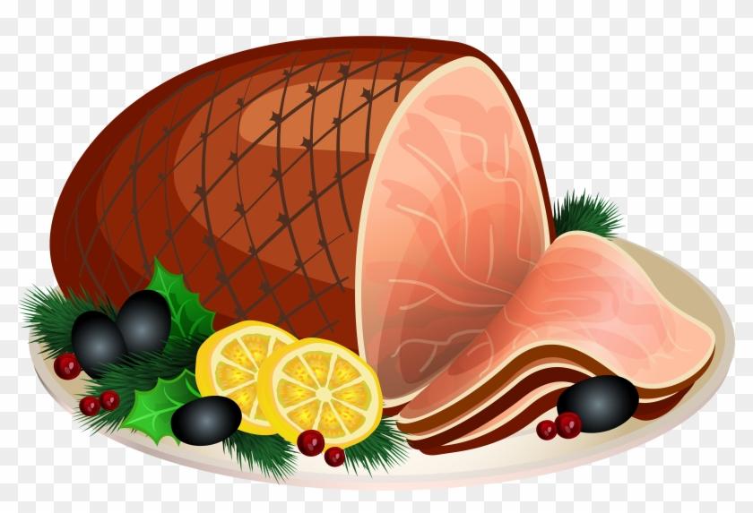 Christmas Ham Transparent Png Clip Art Image - Ham Clipart Png #563517