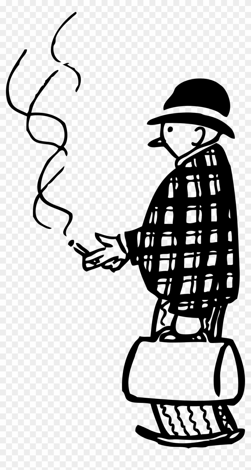 Free Retro Clipart Of A Family Doctor Smoking Cigar - Man Smoking Cigar Png #563579