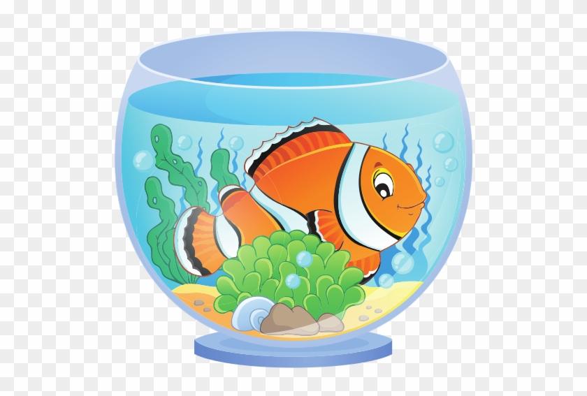 Aquarium With Clown Fish Fish In Aquarium Clipart Free