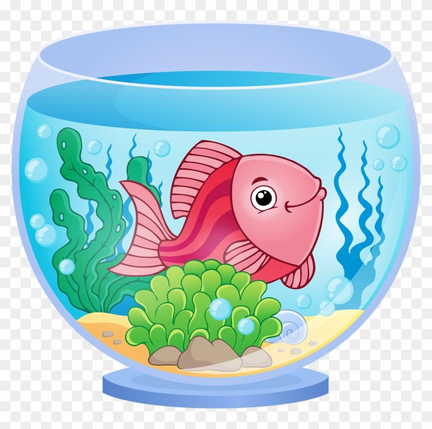 Fish Kiss Clip Art - Fish In Aquarium Clipart #563628