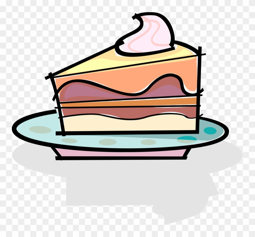 vector illustration of slice of dessert cake on plate slice of rh clipartmax com slice of birthday cake clipart slice of cake clipart free