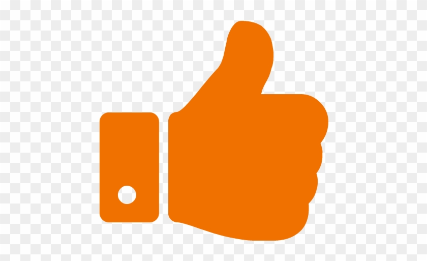 Thumb Signal Computer Icons Font Awesome - Orange Thumbs Up #564680