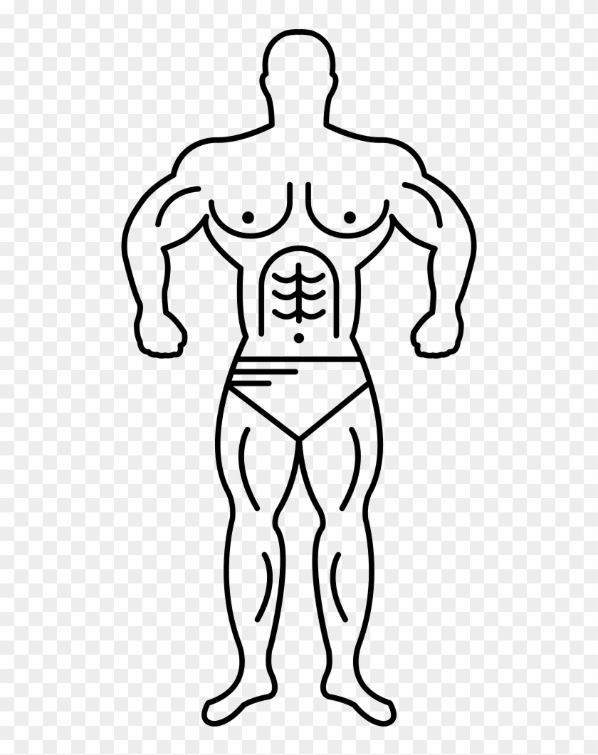 Super Muscle Man Outline Svg Png Icon Free Download - Muscle Man Outline #564888