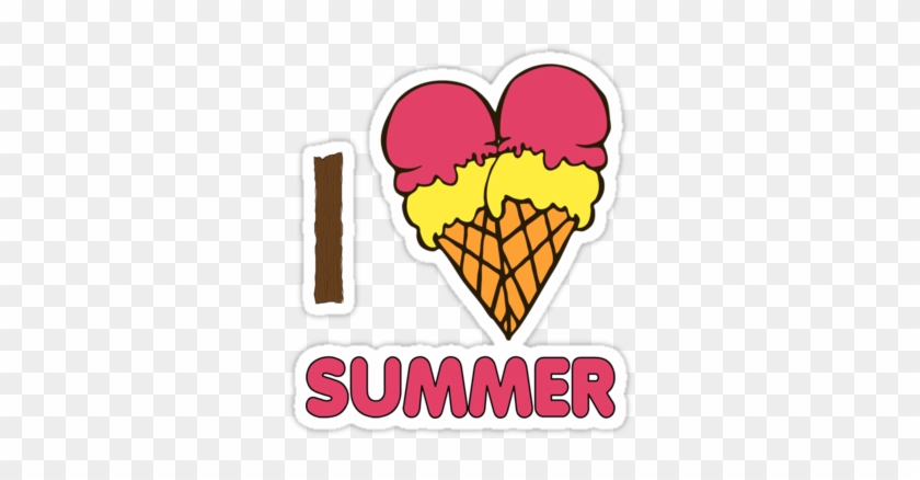 Открытка я люблю мороженое