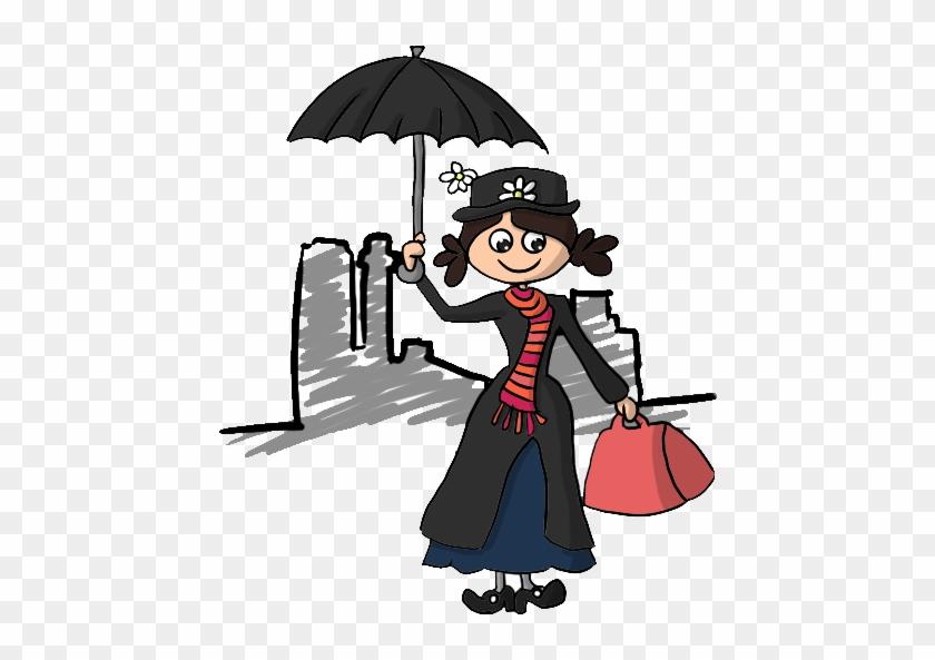 Resultado De Imagen De Mary Poppins Png - Cartoon #565336