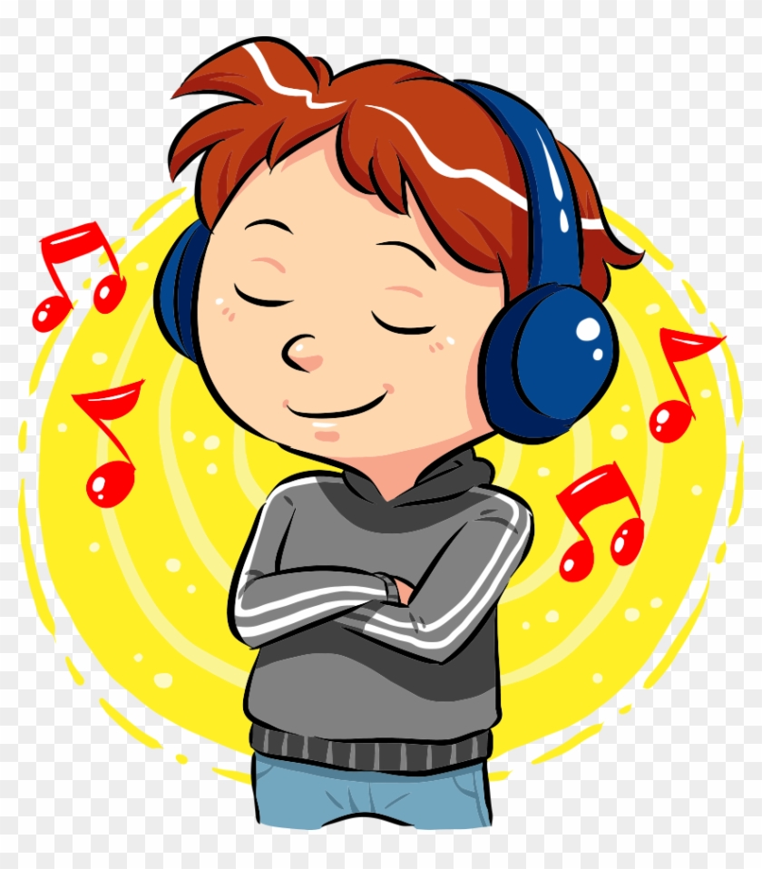 music listening clip art - listen to music clipart - free