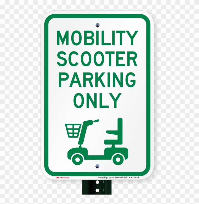 Mobility Scooter Parking Only, Reserved Parking Sign - Employee Of The Month Parking Spot #566506