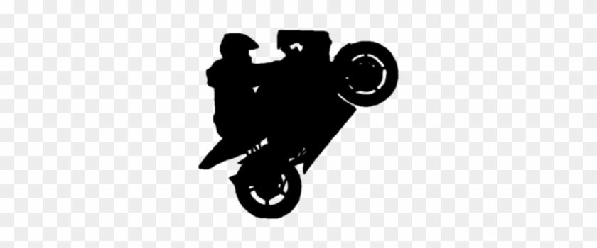Dirt Bike Silhouette Wheelie