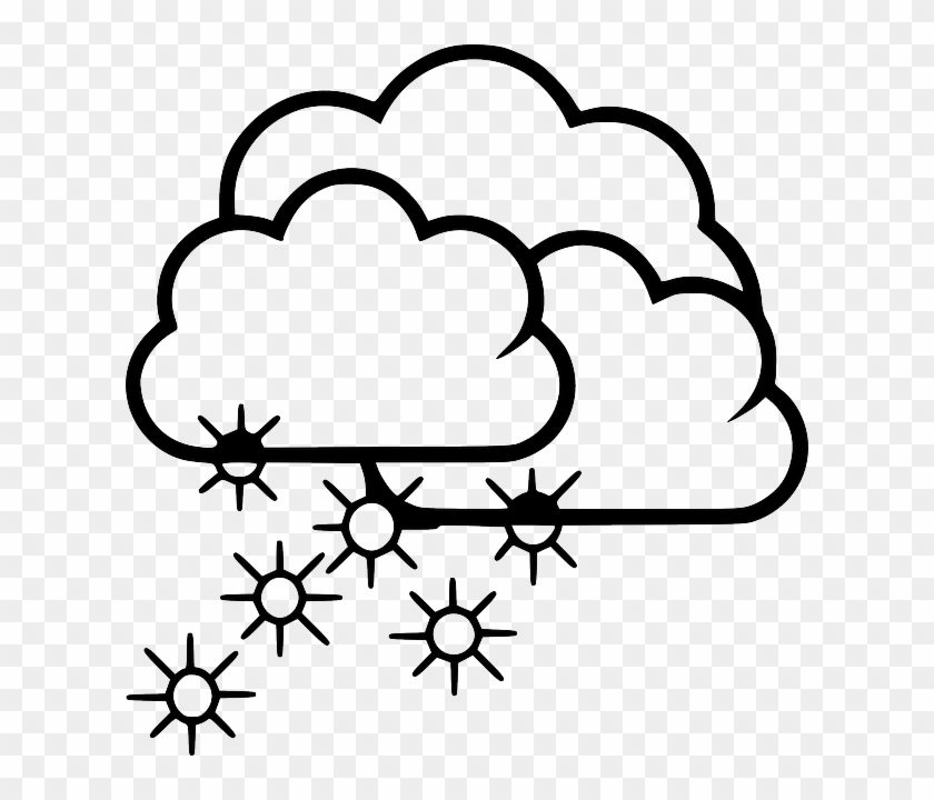 Snow, Snowfall, Cold, Frost, Winter, Frozen - Snow Black And White Clip Art #568814