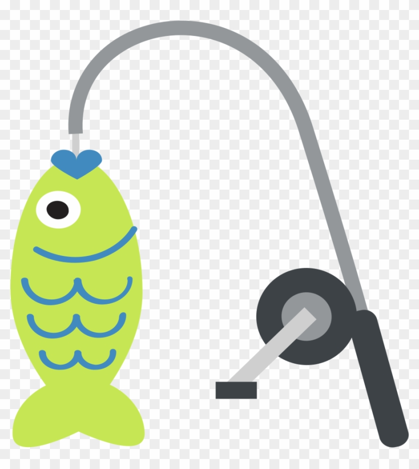 Download Emoji Fishing Rods Fishing Gaff Fishing Tackle Fishing Pole With Fish Free Transparent Png Clipart Images Download