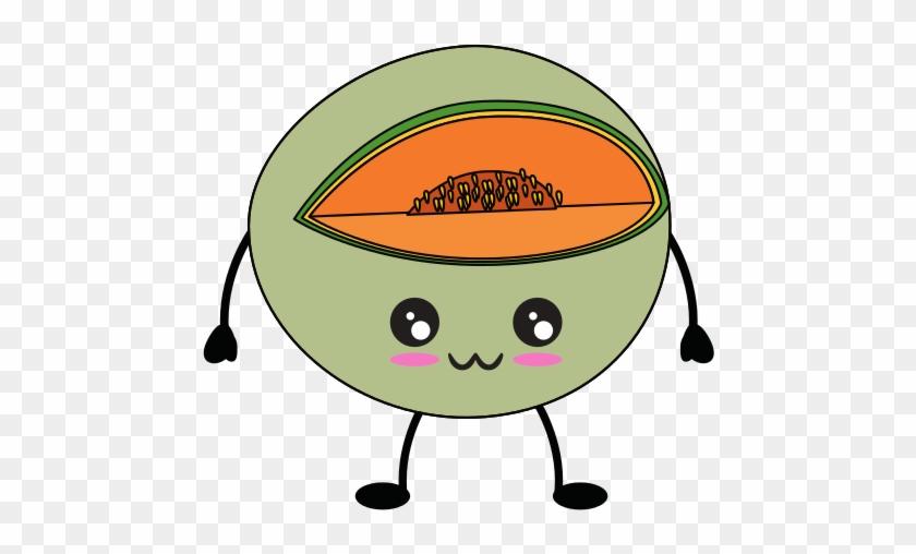 Melon Delicious Fruit Cute Cartoon Cute Bananas Free Transparent Png Clipart Images Download