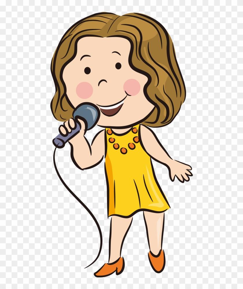Cartoon Singing - K Song - Singer Cartoon #569438