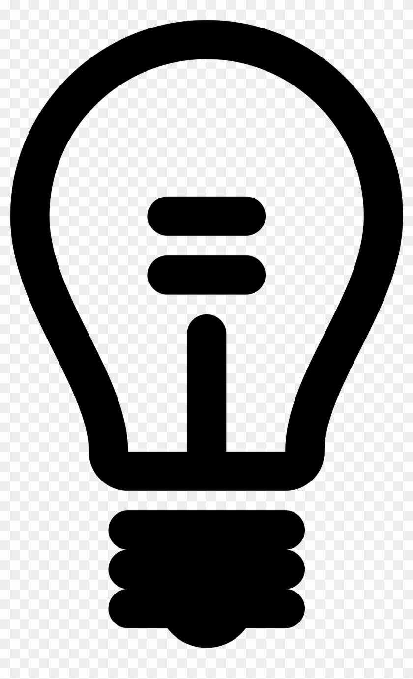 Lamp Outline - Light Bulb Icon Free #569697