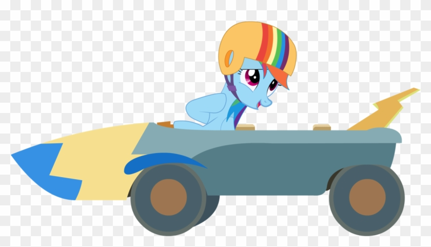 You Can Click Above To Reveal The Image Just This Once, - Rainbow Dash Go Kart #569991