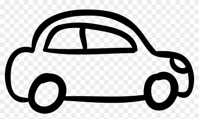Car Outlined Vehicle Side View Comments - Drawing Cartoon Car #570033