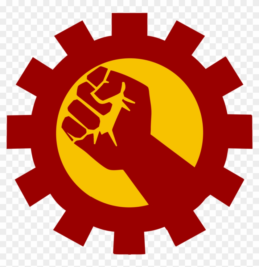 Hammer And Sickle Symbol - Libona National High School Logo #570460