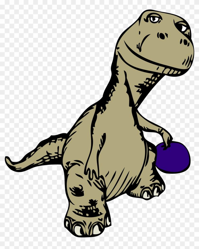 Bowling Duckpins Clipart - Custom Cool Cartoon Dinosaur Shower Curtain #570512