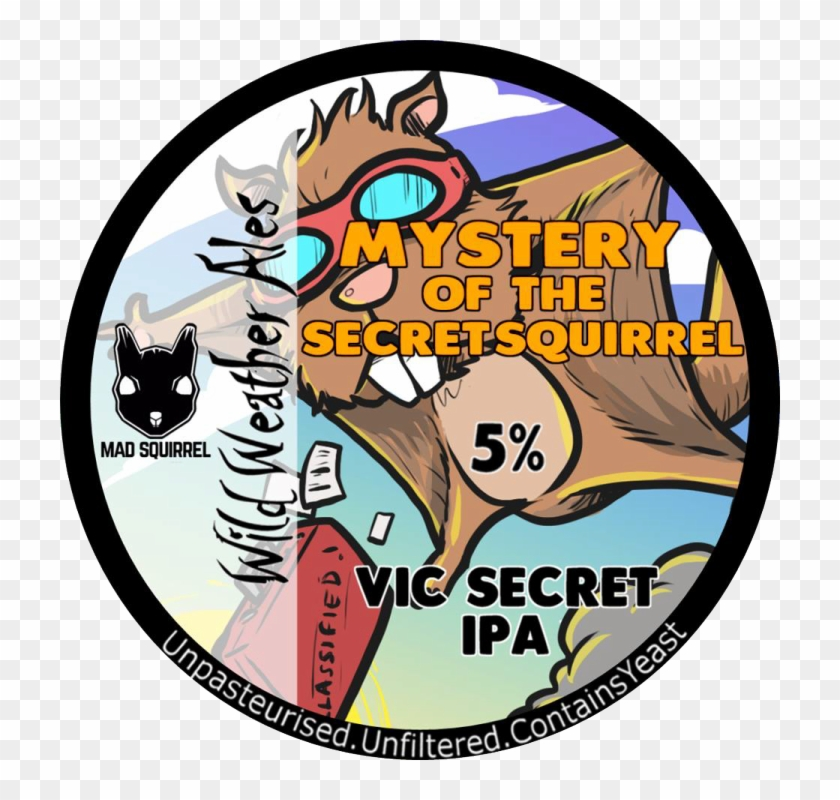 Mystery Of The Secret Squirrel, Pump Clip - Cat #571014