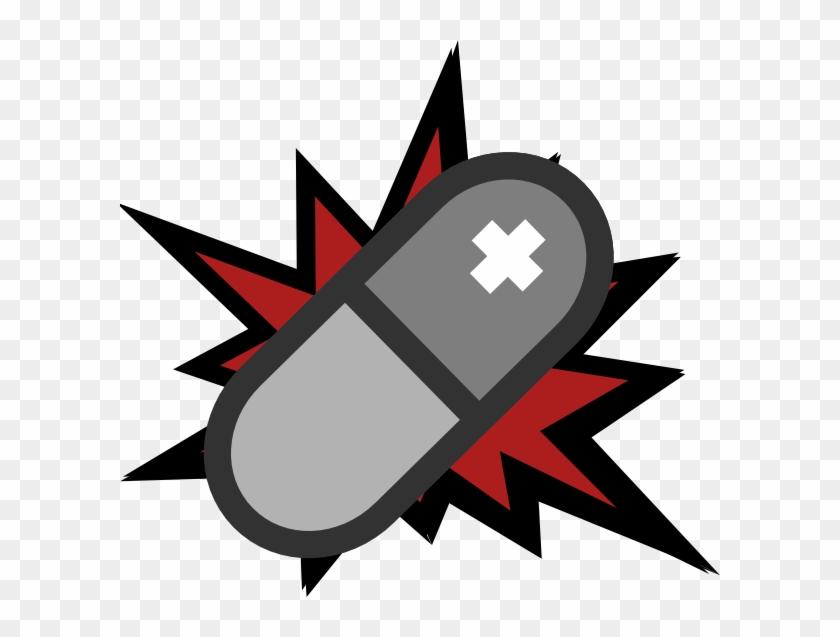 Pill Exploding Clip Art - Superhero Comic Book Background #571318