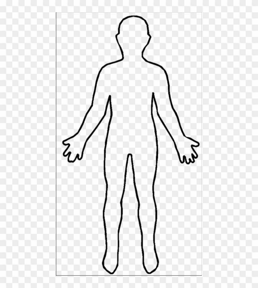 Blank Person Outline - Shape Of A Body #571334