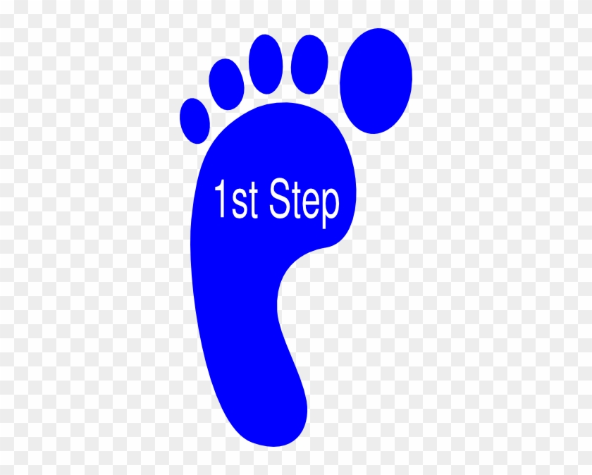 First Right Foot Svg Clip Arts 330 X 594 Px - Footprint Clipart #571396