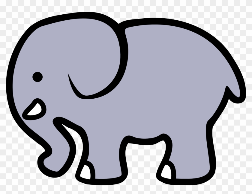 Elephant Clipart Black And White - Girl Birth Announcement, Mother And Baby Elephant #571440
