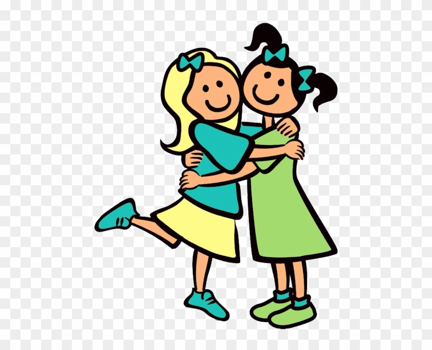 New Friends By Umna Shaikh, Uae, Is One Of The Outstanding - Cartoon People Hugging #571463