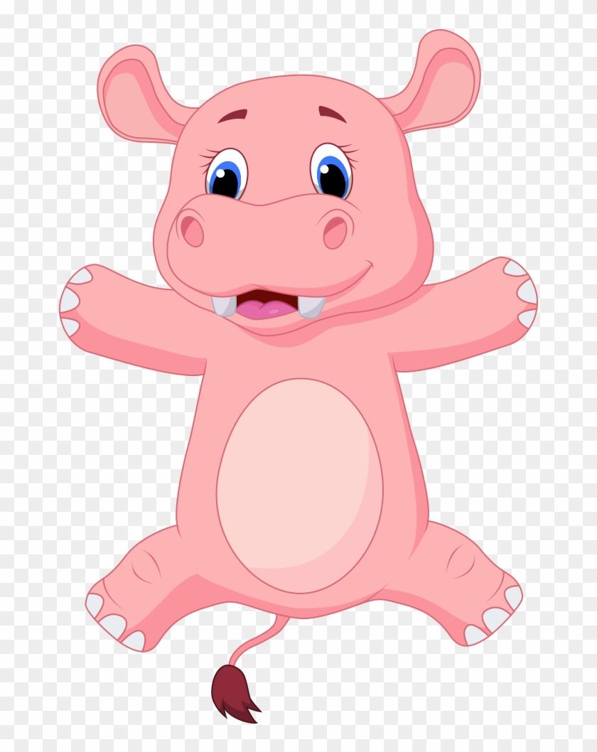 Hippopotamus Cartoon Clip Art - Hippopotamus Cartoon Clip Art #571517