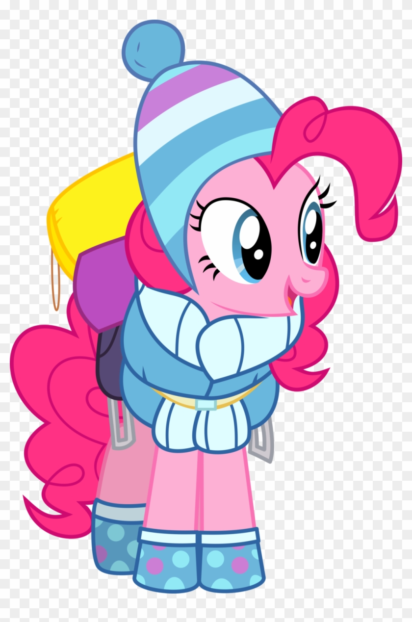 You Can Click Above To Reveal The Image Just This Once, - Pinkie Pie Winter Clothes #571483