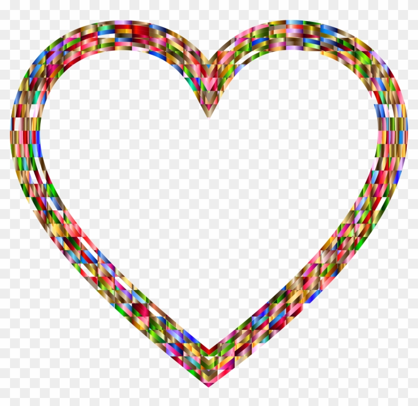 Vibrant Multifaceted Heart - Clip Art #571552