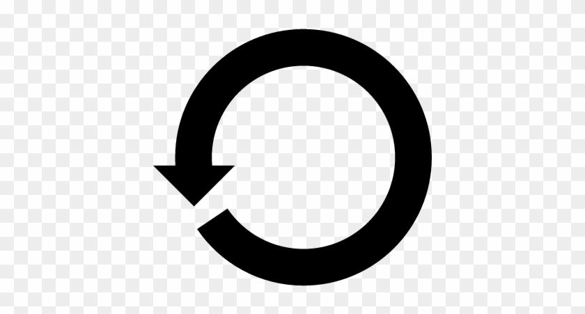 Circular Counterclockwise Rotating Arrow Vector - Sentido Contrario A Las Agujas Del Reloj #571704