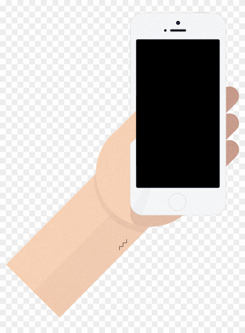 Machine Learning - Phone Hand Flat Design Png #571760