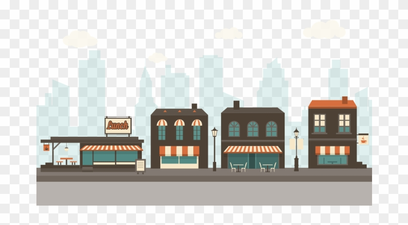 Small Business Objects Cafe And Restourant Shops Vector - Transparency #571770