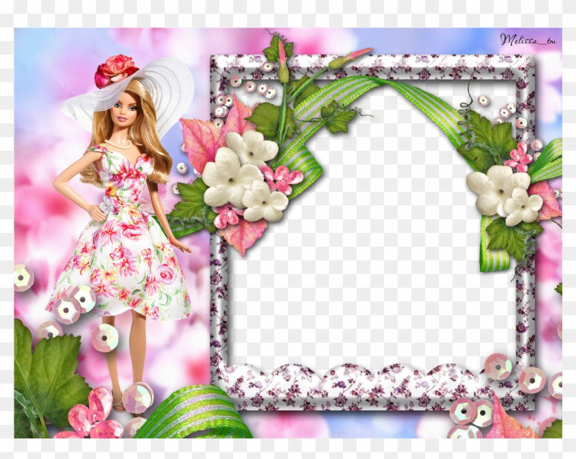 Barbie Picture Frame Doll Clip Art - Disney Princess And Frames ...