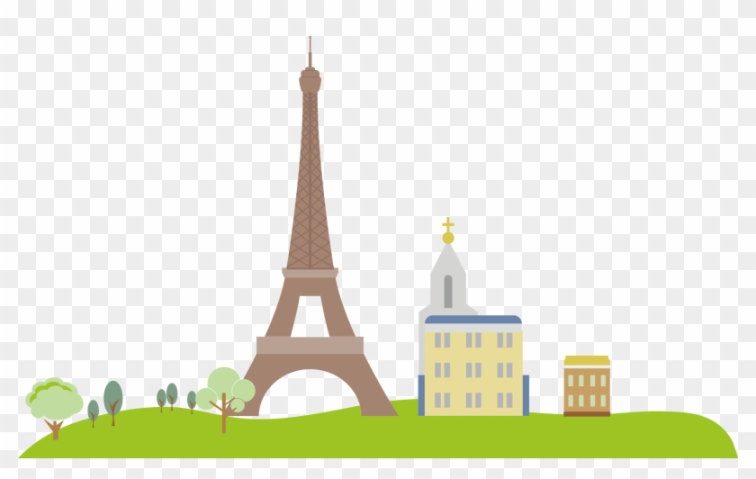 Eiffel Tower Illustration - Eiffel Tower Illustration #571806