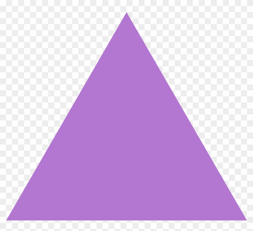 Open - Purple Triangle Png #571857