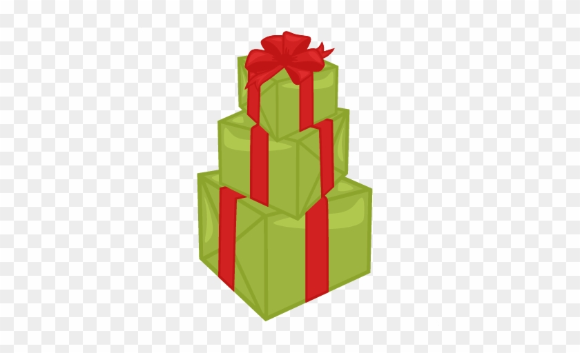 Stacked Christmas Presents Svg Cutting Files For Scrapbooking - Stack Of Gifts Clip Art #571871