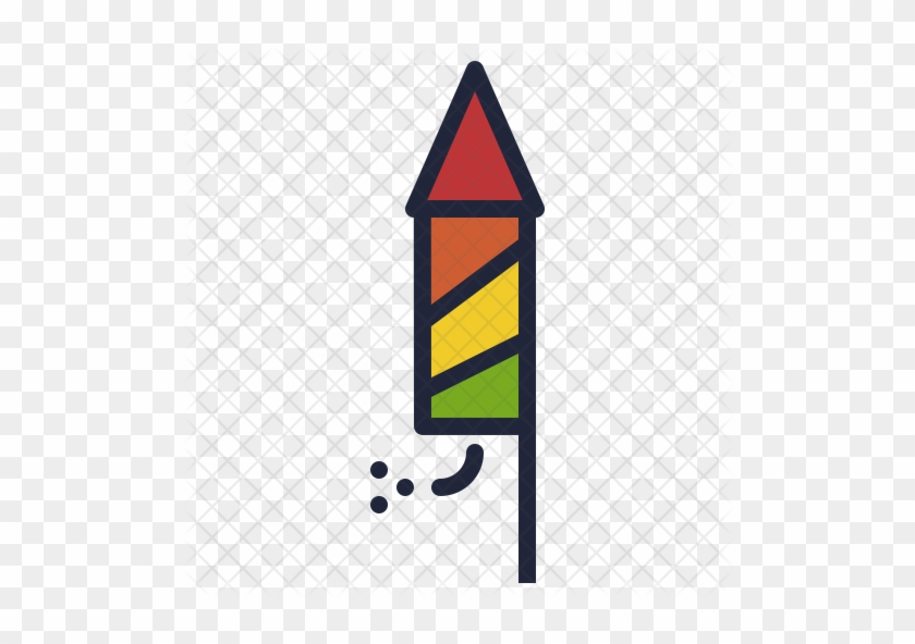 Cheap Rocket Icon With Diwali Crackers Png - New Year Rocket Png Gif #571902