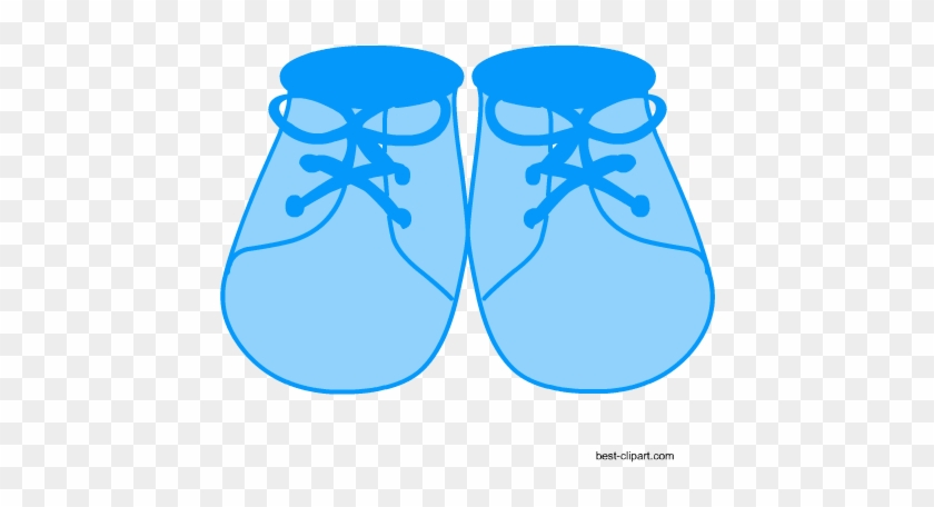 Blue Baby Shoes, Free Clip Art For Baby Shower - Clip Art #571947