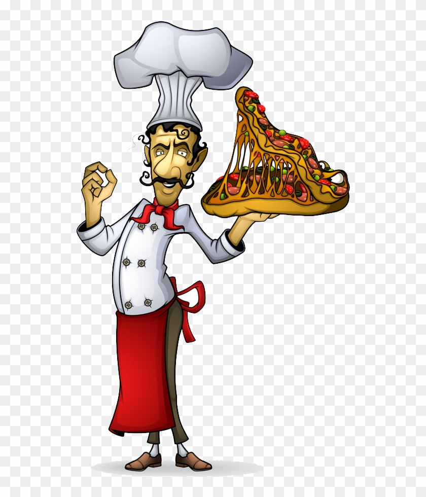 Pizza Italian Cuisine Cook Chef Illustration - Pizza Italian Cuisine Cook Chef Illustration #572021